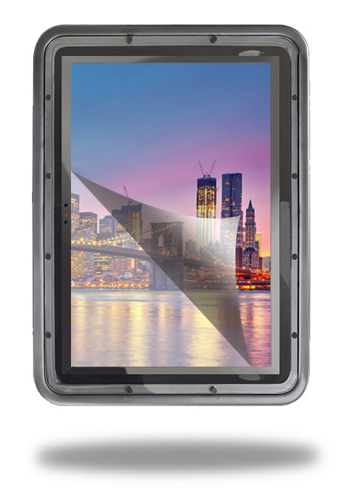 display shield anti glare vertical